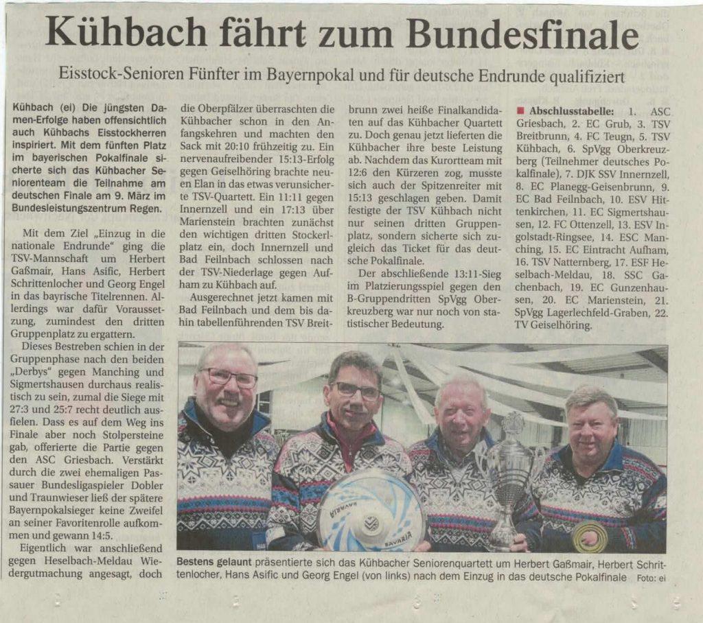 Kühbach fährt zum Bundesfinale