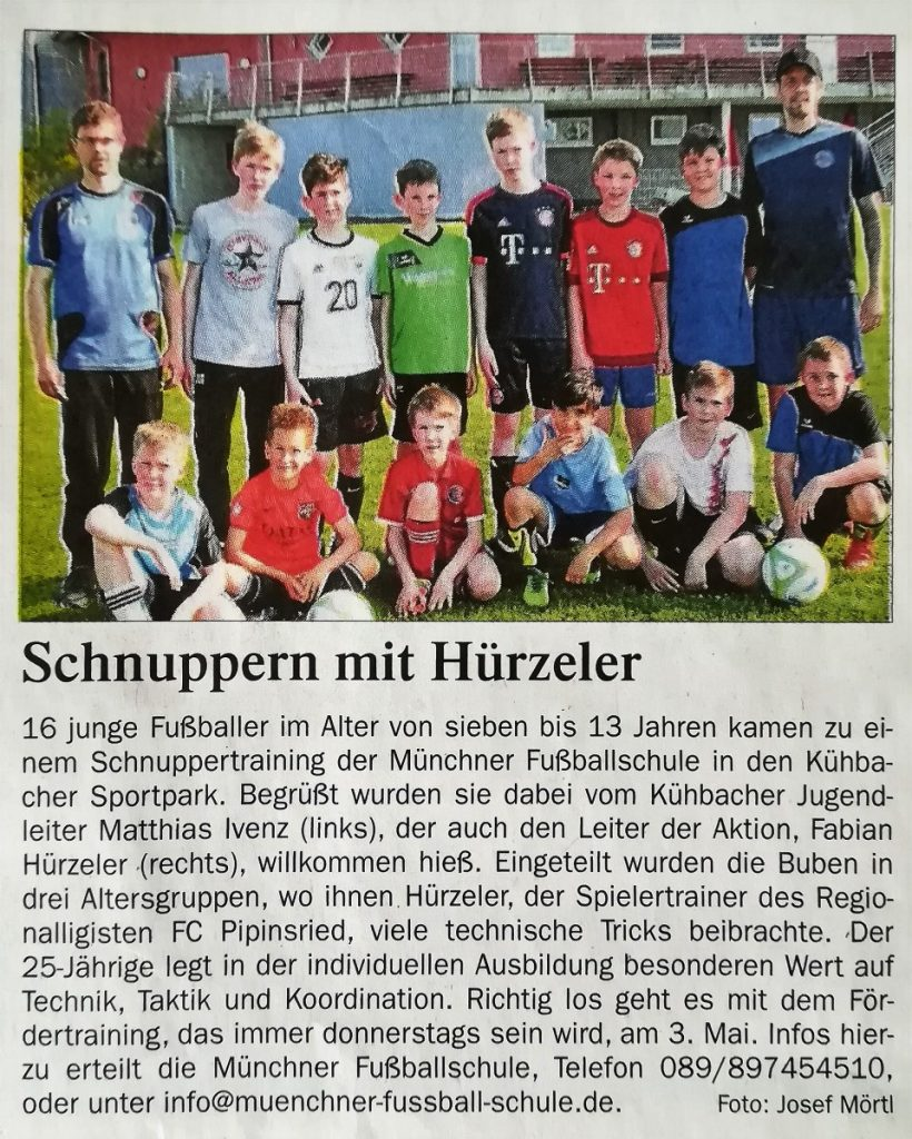 Schnuppertraining mit Fabian Hürzeler