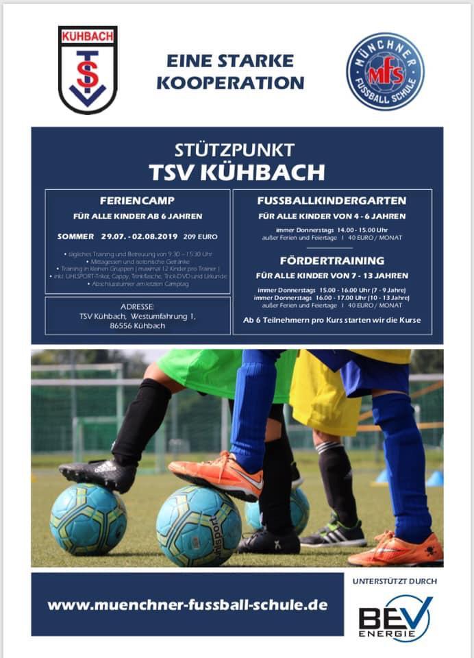 Münchner Fußballschule geht in die zweite Runde im Kühbacher Sportpark