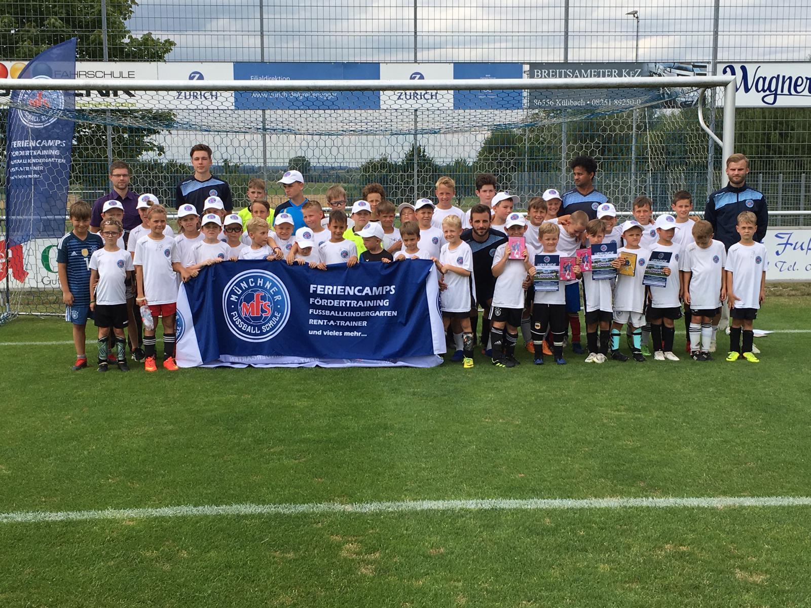Feriencamp der Münchner Fußballschule ein voller Erfolg