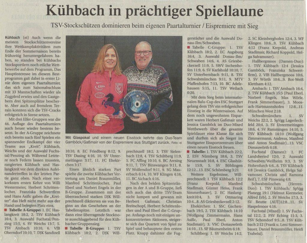 Kühbach in prächtiger Spiellaune
