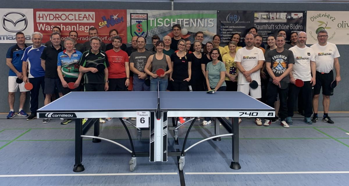 11 Mannschaften beim Kühbacher TT-Hobbyturnier am Start