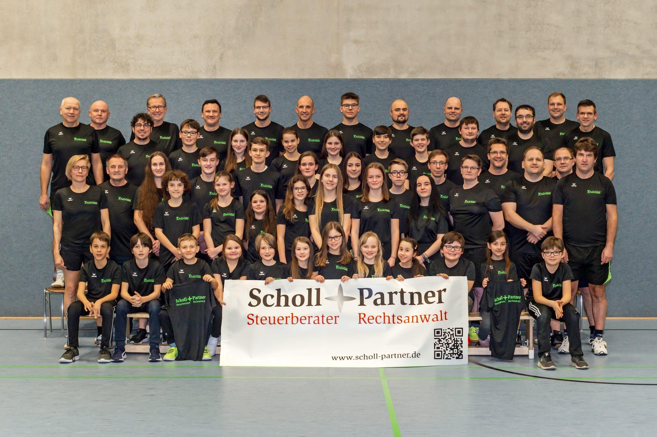 Trainings-Shirts Sponsor Scholl und Partner