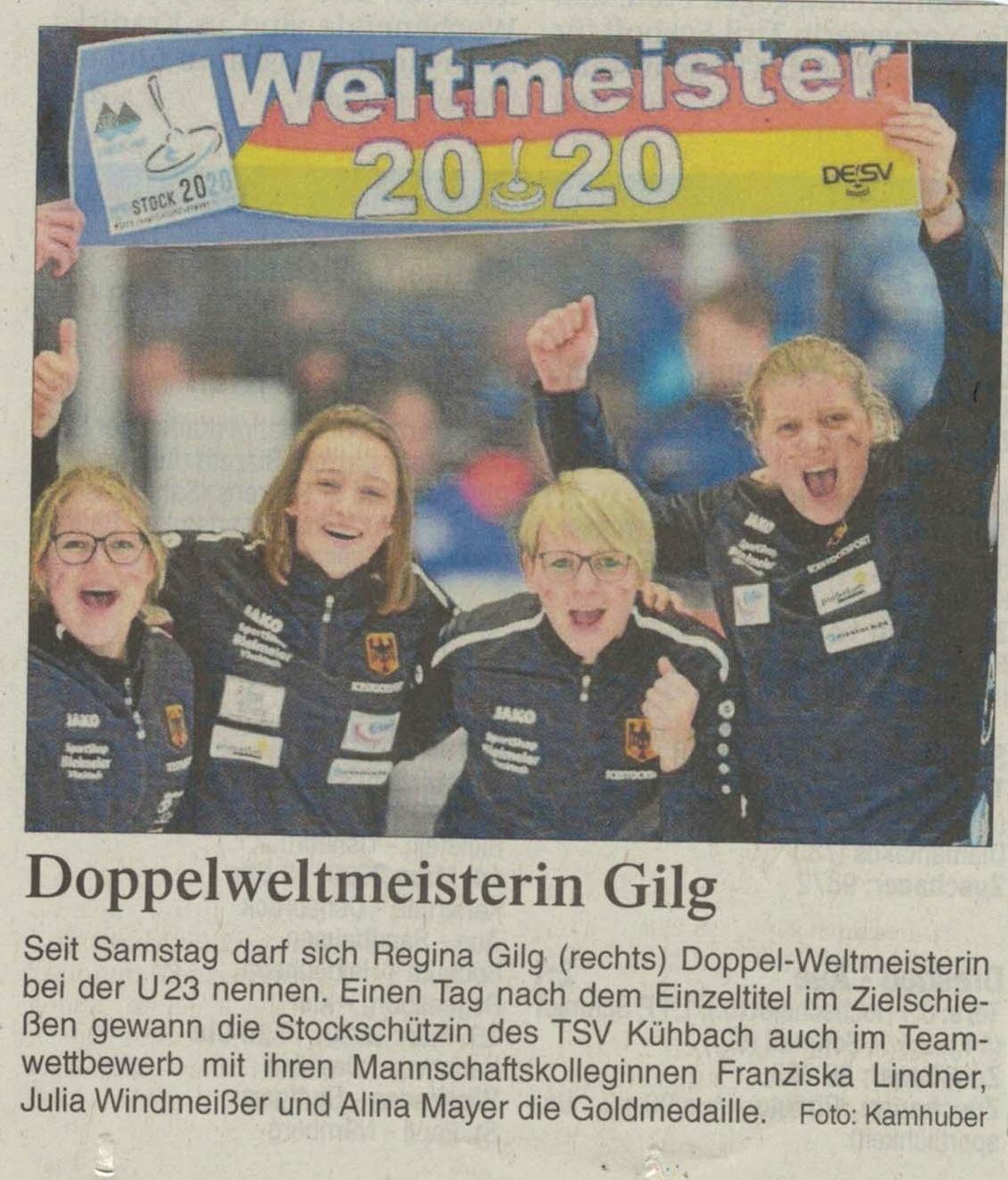 Doppelweltmeisterin Gilg