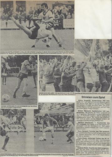 1.Mannschaft 1977-78 Entscheidungsspiel Nr.2 Bilder