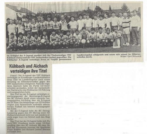 A-Jugend 1986-87
