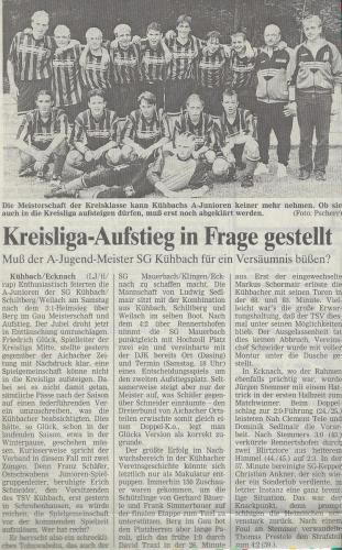 A-Jugend Meister 1996-97