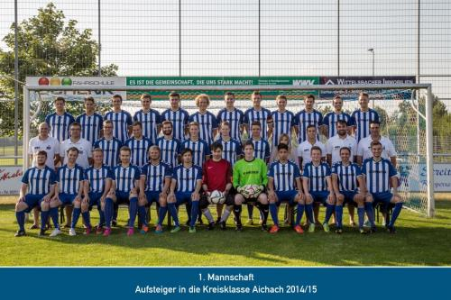 Aufsteiger 1.Mannschaft 2015