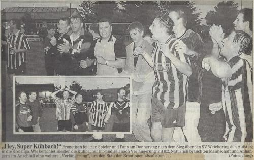 Aufsteiger in die Kreisliga Ost 1998-99 3