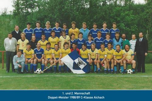 Doppelmeister 1. und 2. Mannschaft 1989
