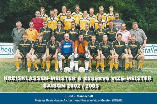 Doppelmeister 1. und 2. Mannschaft 2003