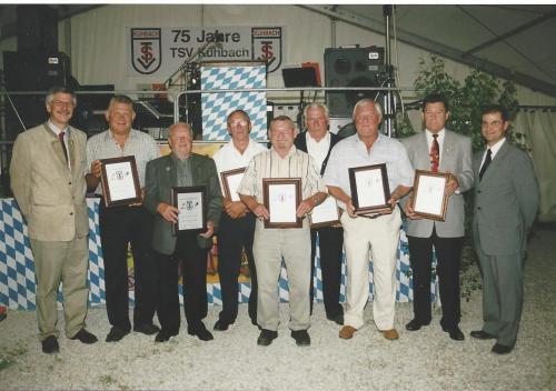 Ehrenmitglieder zur 75 Jahr Feier