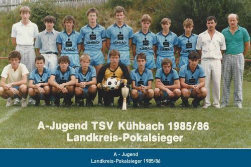 Landkreis-Pokalsieger A-Jugend 1986