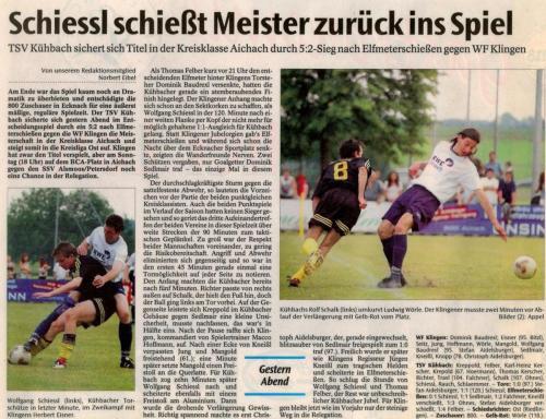 Zeitung Bericht Meister 2002-2003