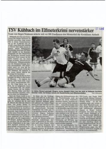 Zeitungsartikel 2003 2